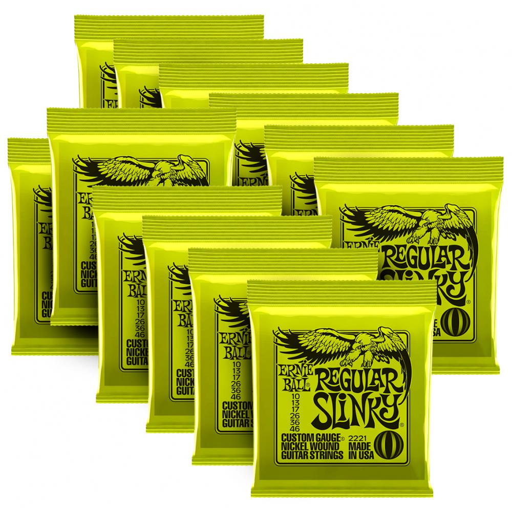 Cuerdas de Guitarra Ernie Ball Regular Slinky 10-46