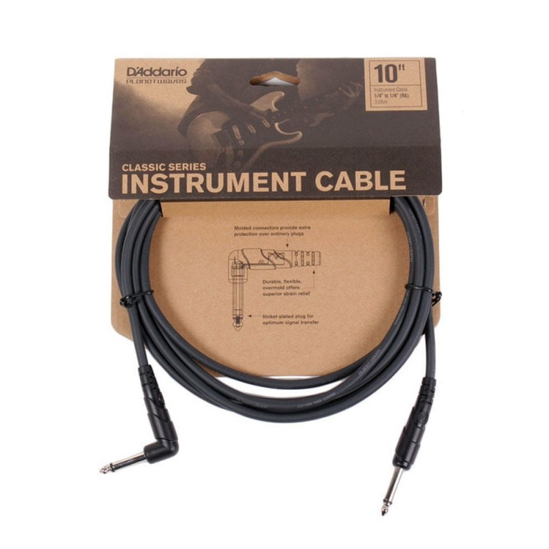 Cable Instrumento Planet Waves Classic Series PW-CGTRA-10 3m.