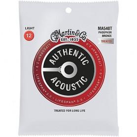 Cuerdas Acústica Martin MA540T Lifespan SP Phosphor Bronze 12-54 Light