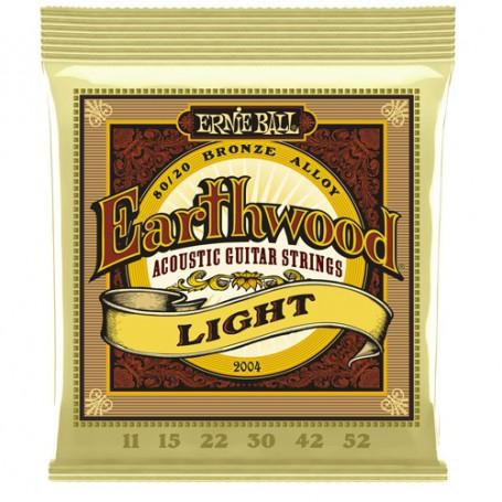 Cuerdas Acústica Ernie Ball 2004 Earthwood Light 11-52