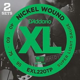 Cuerdas Bajo D´Addario EXL220 Nickel Wound 40-95