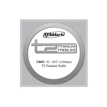 Cuerda Suelta Clásica D´Addario T4603 T2 Titanium Tensión Fuerte