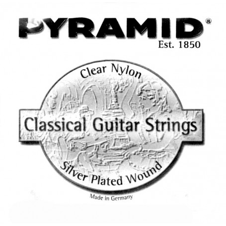 Pyramid Clear Nylon 3-G Classical Single String Medium Tension.