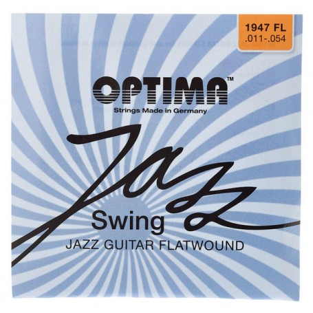 Cuerdas Eléctrica Optima Jazz Swing Chrome Flatwound 11-54