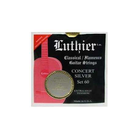Luthier Set 60 Silver Concert Super Carbon Classical Guitar Strings