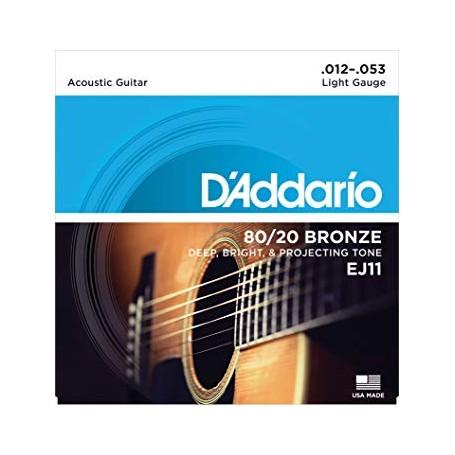 Cuerdas Acústica D´Addario EJ11 80/20 Bronze 12-53