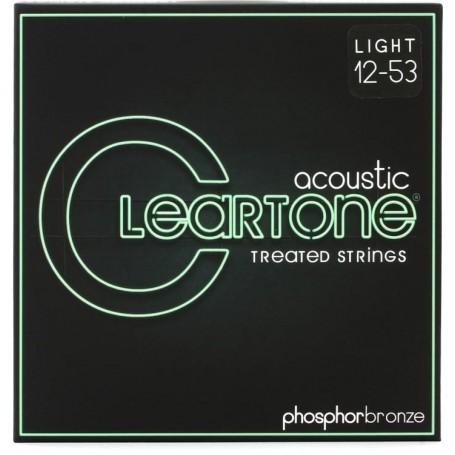 Cuerdas Acústica Cleartone 7412 Phosphor Bronze Light 12-53