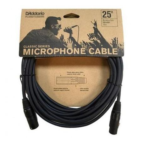Cable de Micrófono D'Addario Planet Waves Classic Series PW-CMIC-25 7.62m.