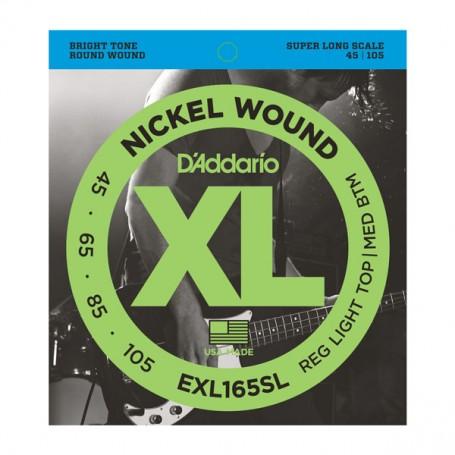 Cuerdas Bajo D´Addario EXL165SL Nickel Wound 45-105 Super Long Scale