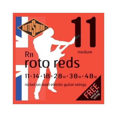 Cuerdas Eléctrica Rotosound Roto Reds 11-48