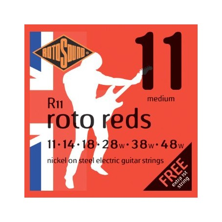Rotosound Roto Roto Reds Electric Strings 11-48