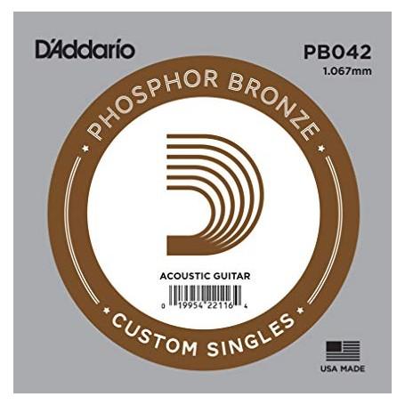 Cuerda suelta D´Addario PB042 acústica Phosphor Bronze