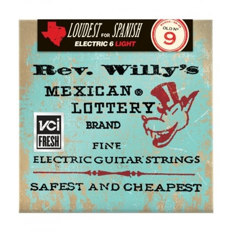 Cuerdas Eléctrica Dunlop Rev. Willy´s Mexican Lottery Brand 09-42