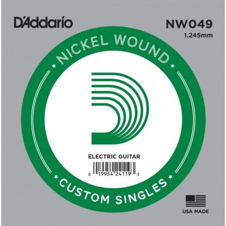 Cuerda suelta D´Addario NW049 entorchada para eléctrica