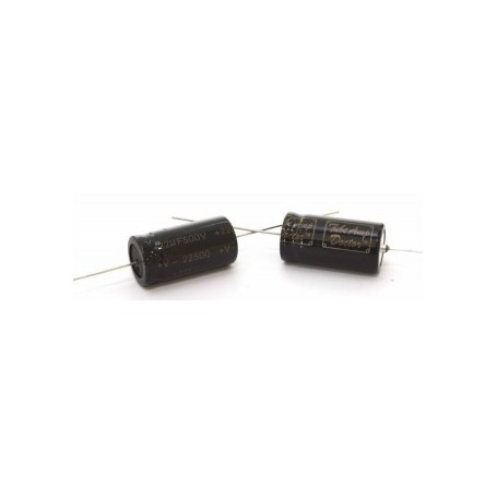 TAD 22uF 500V 16x32mm axial capacitor 105°C