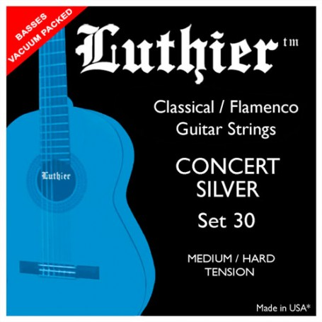 Luthier Set 30 Silver Concert Classical Guitar Strings