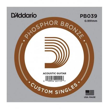 Cuerda suelta D´Addario PB039 acústica Phosphor Bronze