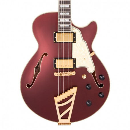 D'Angelico Deluxe SS Matte Wine