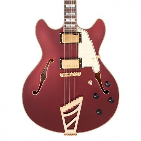 Guitarra Eléctrica D'Angelico Deluxe DC Matte Wine