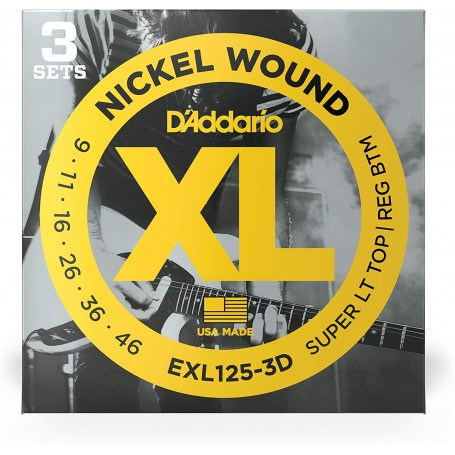 D´Addario EXL125-3D 09-46 Electric 3 Strings Set