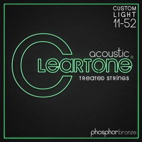 Set 2 Cleartone Phosphor Bronze Acoustic Strings Custom Light 11-52