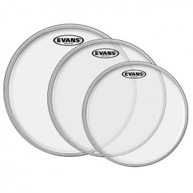 "Juego Parches Evans Tom Pack G2 Clear Fusion 10""+12""+14"""