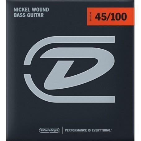 Dunlop Nickel Plated Bass Strings 45-100