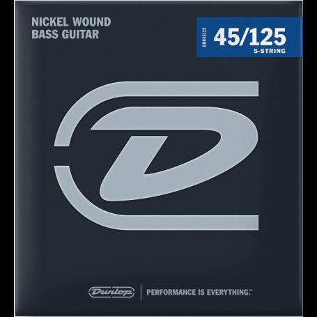 Dunlop Nickel Plated Bass Strings 45-125 5 Strings