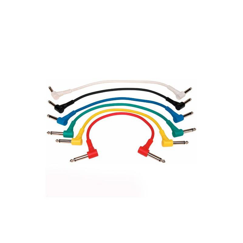 Cable Patch Rockcable para Pedales 15 cm. Pack de 6 Unidades._Pack_6_unidades