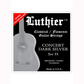 Luthier Set 35 Concert Dark Silver Classical Guitar