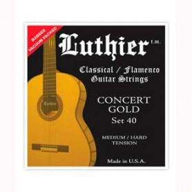 Cuerdas Clásica Luthier Set 40 Concert Gold