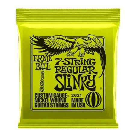 Ernie Ball Regular Slinky 7 String 2621 Electric Strings 10-56