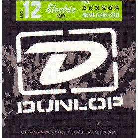 Dunlop Nickel Plated Steel Electric Strings 12-54