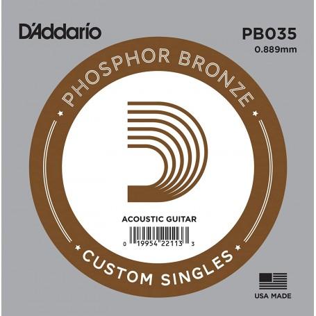 Cuerda suelta D´Addario PB035 acústica Phosphor Bronze