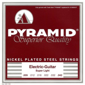 Pyramid Electric Nickel Plated Steel Strings 09-42