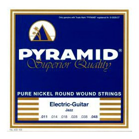 Pyramid Electric Pure Nickel Round Wound Strings 11-48