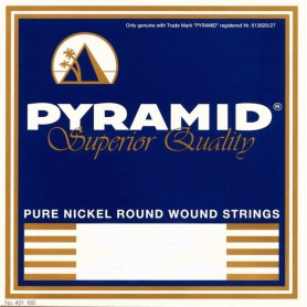 Pyramid Electric Pure Nickel Round Wound Strings 12-52