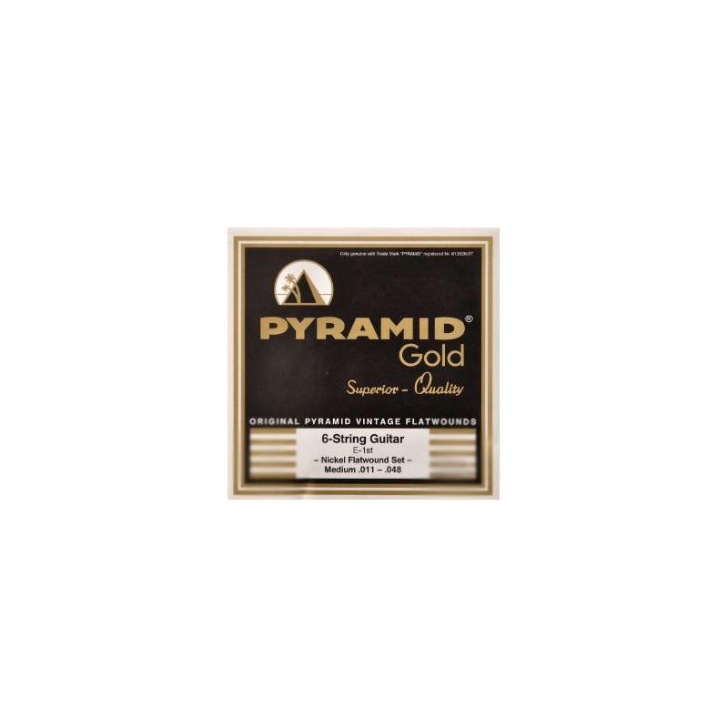 Cuerdas Eléctrica Pyramid Gold Flatwound 11-48 -48_1