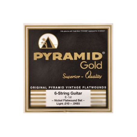 Cuerdas Eléctrica Pyramid Gold Flatwound 10-465