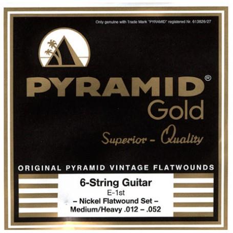 Cuerdas Eléctrica Pyramid Gold Flatwound 12-52-52