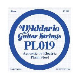 D'Addario Nickel Plain Electric/Acoustic Single String PL019