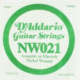 Cuerda suelta D´Addario NW021 entorchada para eléctrica