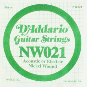 D'Addario Nickel Wound Electric Single String NW021