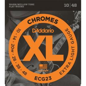 Cuerdas Eléctrica D´Addario Chromes ECG23 10-48 Flatwound
