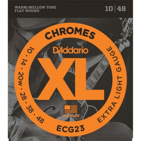 Cuerdas-Eléctrica-D´Addario ECG23 Chromes Extra Light 10-48