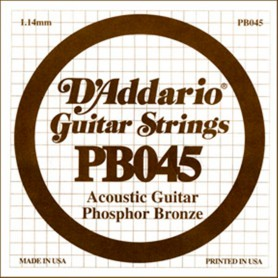 D'Addario Phosphor Bronze Acoustic Single String PB045