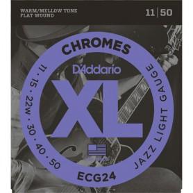 Cordes Elèctrica D'Addario Chromes ECG24 11-50 planes