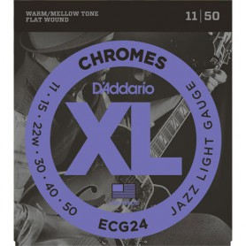 Cuerdas Eléctrica D´Addario Chromes ECG24 11-50 Flatwound