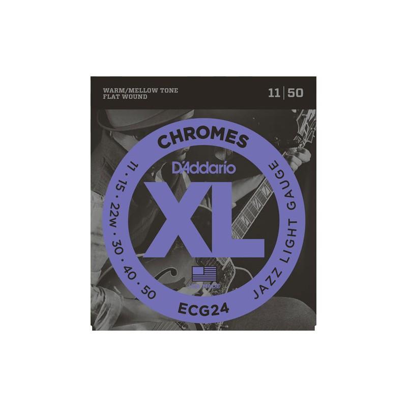 Cuerdas-Eléctrica-D´Addario ECG24 Jazz Light 11-50