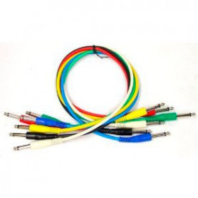 Rockcable Patch Audio Cable 60 cm. 6 Pack